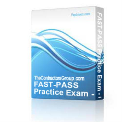 fast-pass practice exam - general building contractor