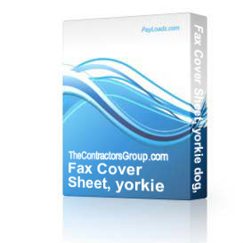 fax cover sheet, yorkie dog, editable