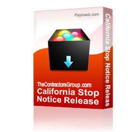 california stop notice release