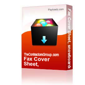 fax cover sheet, snowboarder, editable
