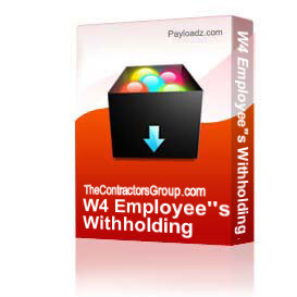 W4 Employee's Withholding Allowance Certificate form | Other Files | Documents and Forms