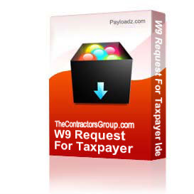 w9 request for taxpayer identification number and certification