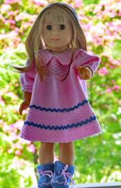 DollKnittingPattern 0045D ELINE - Dress, Pant and Socks | Crafting | Knitting | Baby and Child