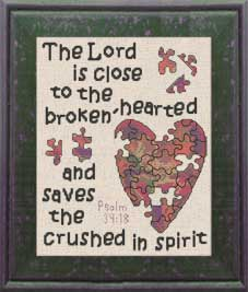 brokenhearted  - psalm 34:18 - chart