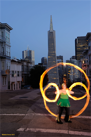 poi fire dancing lesson: pinwheel lockout