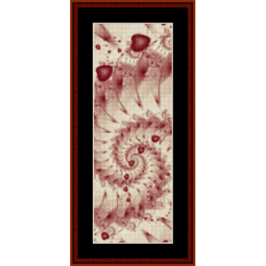 fractal 280 bookmark cross stitch pattern by cross stitch collectibles