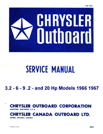 chrysler 2-6-9-20 hp outboard manual 1963 to 1967