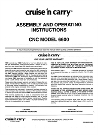 cruse-n-carry cn 6600 owners manual
