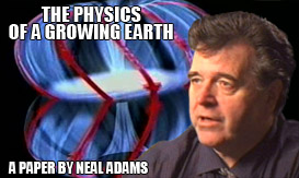 physics of a growing earth