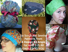 6 scrub hat sewing instructions patterns download