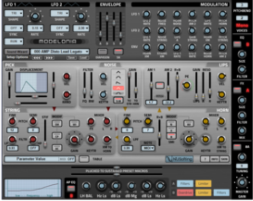 First Additional product image for - Modelonia Synthesizer  by NUSofting AU VST