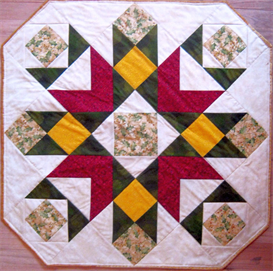 blooming beauty tabletopper or lap quilt