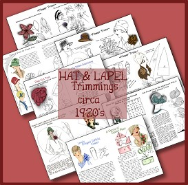 17 Trimmings for Hat & Lapel circa 1920s | Crafting | Sewing | Apparel