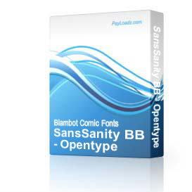 SansSanity BB - Opentype | Software | Design