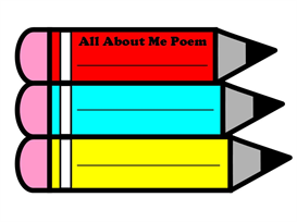 all about me pencil poetry set