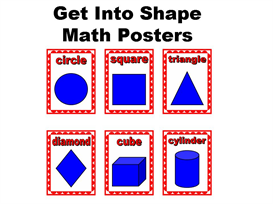 get into shape:  math posters set