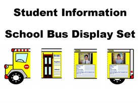 student information school bus display