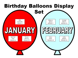 Birthday Balloons Display Set | Other Files | Documents and Forms