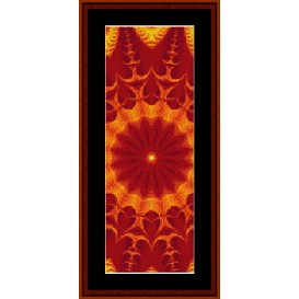 fractal 281 bookmark cross stitch pattern by cross stitch collectibles