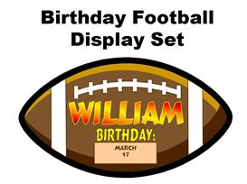 birthday football display set