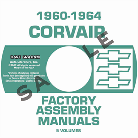 1960-1964 corvair factory assembly manuals