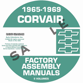 1965-1969 corvair factory assembly manuals