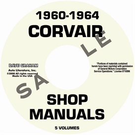 1960-1964  corvair shop manuals