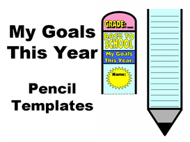 my goals this year: pencil writing templates