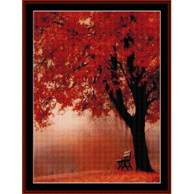 forest in autumn - nature cross stitch pattern by cross stitch collectibles