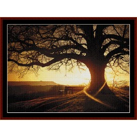 sunset - nature cross stitch pattern by cross stitch collectibles