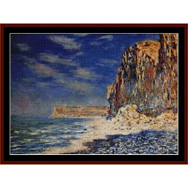 cliff near fecamp - monet cross stitch pattern by cross stitch collectibles