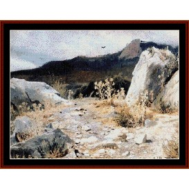 Mountain Path - Shishkin cross stitch pattern by Cross Stitch Collectibles | Crafting | Cross-Stitch | Wall Hangings