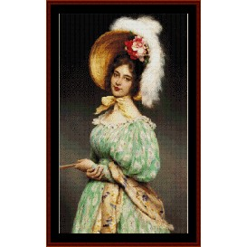 musette - de blass cross stitch pattern by cross stitch collectibles