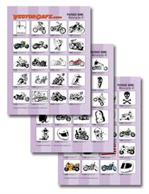 motorcycles vector clip art #1