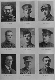 edinburgh university roll of honour 1914-1919 plate 32