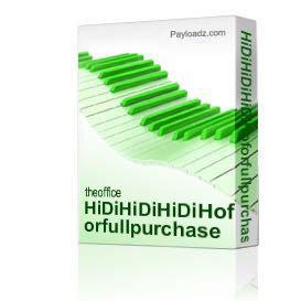 hidihidihidihoforfullpurchase