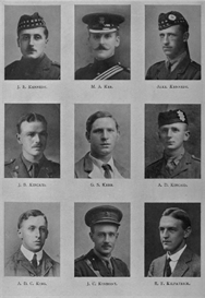 edinburgh university roll of honour 1914-1919 plate 41