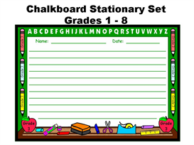 chalkboard writing templates back to school