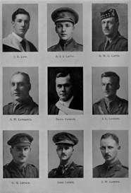 edinburgh university roll of honour 1914-1919 plate 43