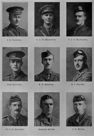 edinburgh university roll of honour 1914-1919 plate 49