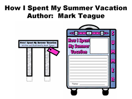 how i spent my summer vacation suitcase templates (mark teague)