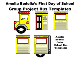 Amelia Bedelia's First Day of School Group Project Bus Templates | Other Files | Documents and Forms