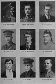 edinburgh university roll of honour 1914-1919 plate 54