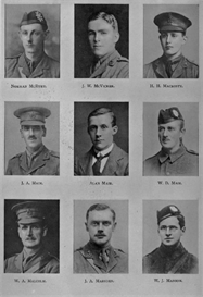 edinburgh university roll of honour 1914-1919 plate 55
