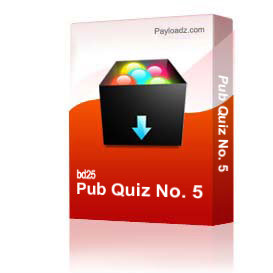 pub quiz no. 5
