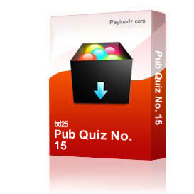 pub quiz no. 15