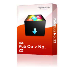 pub quiz no. 22