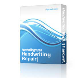 handwriting repair: handwriting tips powerpoint