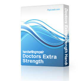 Doctors Extra Strength Handwriting Repair | Software | Training