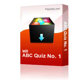ABC Quiz No. 1 | Other Files | Documents and Forms